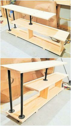 DIY- Ideas To Make The Best Wooden Furniture - DIY- Ideas To Make The Best Wooden Furniture wooden kitchan banch-Project Pipe Furniture, Steel Furniture, Woodworking Furniture, Furniture Making, Woodworking Projects, Fine Woodworking, Furniture Projects, Unique Furniture, Furniture Plans