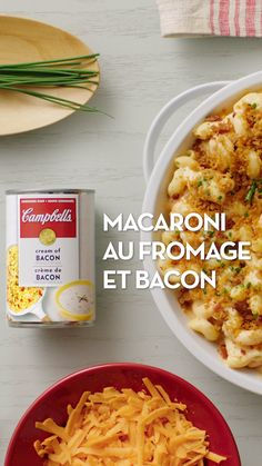 Open up creativity with 🥓 and 🧀 made from Campbell's® Cream of Bacon Soup. Bacon Recipes, Pasta Recipes, Vegetarian Recipes, Chicken Recipes, Dinner Recipes, Cooking Recipes, Mac N Cheese Bacon, Bacon Soup, Macaroni And Cheese