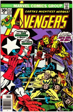 Avengers Series November 1976 Marvel Comics Grade F/VF - Comic Book Covers - Marvel Comics, Marvel Comic Books, Comic Books Art, Comic Art, Marvel Dc, Comic Superheroes, Marvel Characters, The Avengers, Avengers Universe