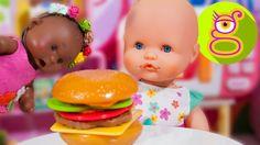 La bebé Luci y Martina preparan una hamburguesa - Capítulo #28 - juguete...