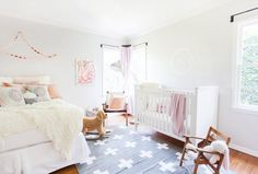 Schuyler's Soothing Room with Peach & Pink Accents Guest Bed, Guest Room, Baby Room Closet, Big Girl Rooms, Kids Rooms, Nursery Inspiration, Nursery Ideas, Room Ideas, Pink Accents