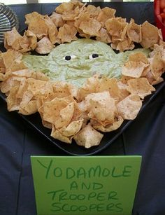 "Yodamole and Trooper Scoopers | By: Jill at Kitchen Fun with My Three Sons, via Bit Rebels (from ""Geektastic Collection Of Star Wars Inspired Party Foods"") 