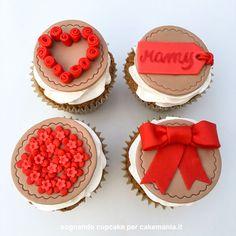 tutorial-festa-della-mamma-quadrata Biscotti, Cupcake, Tutorial, Cookies, Sweet Ideas, Desserts, Muffin, Food, Design