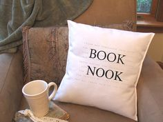 book lover graphic throw pillow cover decorative by TwirlyGirlTees, $14.99