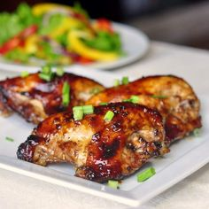 Honey Soy Chicken Breasts (per reviewer, reduce baking time to 25 min. if using boneless skinless chicken breasts)