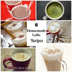 6 Homemade Lattes - YUM!!!