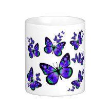 #Butterflies #Mug Purple butterfly mug for children. $15.95