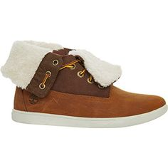 Tan & Brown Leather Hgh Top Sneakers