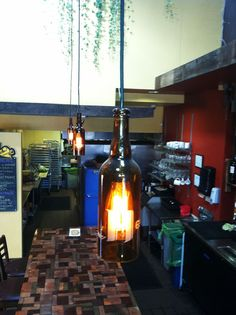 Local Habitat beer bottle light fixture by bottlehood