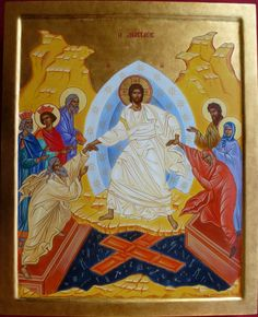 L'Anastasis Christ Is Risen, He Is Risen, Tempera, Holy Quotes, Religious Icons, Orthodox Icons, Les Oeuvres, Christianity, Spirit