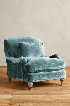 """""""Caribbean"""" Slub Velvet Glenlee Chair, Wilcox - anthropologie.com"""