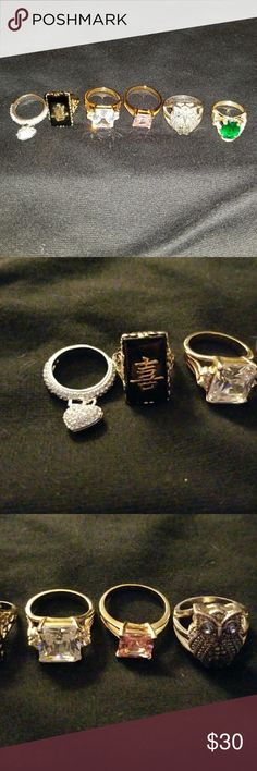 Lot Of Fashion Rings Sz 5-9 Lot of Rings. Light Wear. Just Pretty Costume Jewelry Jewelry Rings