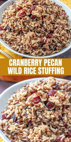 Cranberry Pecan Wild Rice Stuffing is a festive addition to your Thanksgiving celebration. Loaded with tart cranberries, toasted pecans, and orange zest, it makes a fantastic side dish or turkey stuffing. Best Side Dishes, Side Dish Recipes, Gourmet Recipes, Cooking Recipes, Healthy Recipes, Nut Recipes, Rice Recipes, Recipies, Easy Thanksgiving Recipes