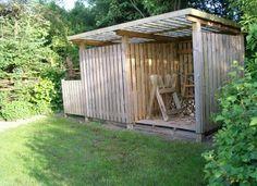 .: Brændeskur og hegn - eget design og byg
