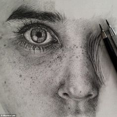 Captivating: Artist Monica Lee uses graphite pencils and smudging tools