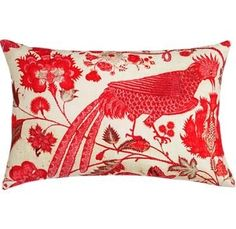 red bird pillow