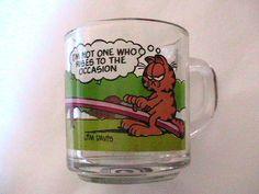 GARFIELD 1980s GLASS COFFEE MUG CUP Mom's cup @ashleykoerber