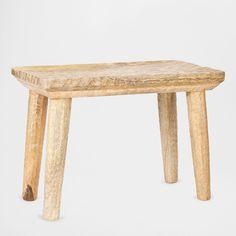 Rectangular Carved Stool - Occasional Furniture | Zara Home United Kingdom