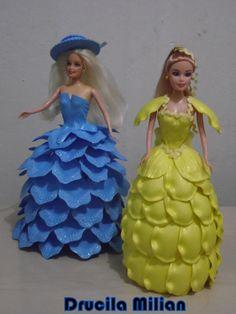 Arteirices da Dru: Princesa e Dama - Bonecas com Vestidos de EVA Fris...                                                                                                                                                                                 Mais