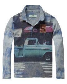 Longsleeve Photoprint T-shirt | Jersey l/s tee's & tops | Boy's Clothing at Scotch & Soda