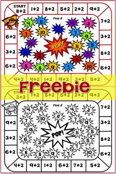FREEBIE Your students will enjoy playing this engaging Super Hero game with… Math Strategies, Math Resources, Math Activities, Thinking Strategies, Super Hero Games, Math Night, Math Fact Fluency, Math Addition, Addition Games