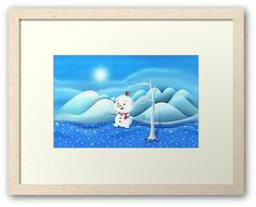 'Snowbaby on Sparkling Ice' Framed Print by We ~ Ivy Art Prints For Home, Presents For Friends, My Themes, Website Themes, Good Cause, Sparkling Ice, Art Boards, Ivy, Playroom