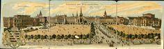Panorame des Augustaplatzes Postkarte Leipzig, Leporello