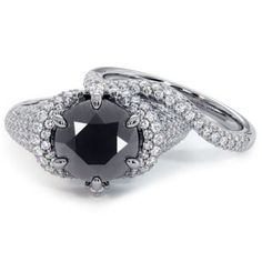 Buy this stylish black diamond engagement ring craft in 14k gold that is (Approx) 3.77 Carat in weight at the simplest worth ever. So, Hurry Up get Now! Moissanite Wedding Rings, Diamond Wedding Rings, Black Diamond Engagement, Black Diamond Jewelry, Wedding Band Sets, Engagement Ring Settings, Natural Diamonds, Beautiful Rings, White Gold