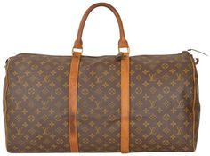 Louis Vuitton Vintage Keepall 55 Monogram Carry On Duffle Luggage M41424 Brown Travel Bag. Save 69% on the Louis Vuitton Vintage Keepall 55 Monogram Carry On Duffle Luggage M41424 Brown Travel Bag! This travel bag is a top 10 member favorite on Tradesy. See how much you can save