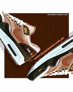 "e4a6a2087b2507 BespokeIND on Instagram  ""W I P  bespoke ind www.bespokeind.com.au 🎨    pdrovalero"". Sneakers NikeNike ShoesHypebeastNike Air MaxBespokeStreet ..."