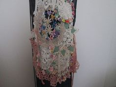 Magnolia Pearl Lace vintage Garden of Flowers vest by ContessaRose