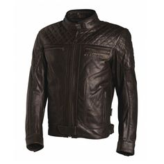 Shop for Richa Memphis Leather Jacket - Brown. Vintage style motorcycle jacket with quilted leather on the shoulders, chest and arms. Cafe Racer Clothing, Bike Clothing, Moto Wear, Motorbike Jackets, Cafe Racer Style, Riding Jacket, Moto Style, Men's Style, Motorcycle Outfit