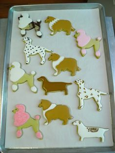 From Captain's Daughter to Army Mom: Martha's Martha by Mail Dog Cookies as Cake toppers and Party Favors!