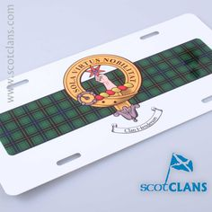 Henderson Clan Crest Novelty License Plate. Free Worldwide Shipping Available