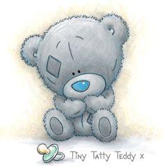 Easy Cartoon Drawings, Cute Drawings, Baby Canvas, Teddy Bear Pictures, Cute Animal Memes, Blue Nose Friends, Baby Album, Cute Teddy Bears, Tatty Teddy