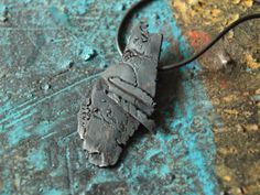 art pendant wabi sabi jewelry black patinated von hibiscusgardenart, €80.00