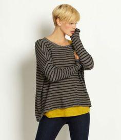 Eileen Fisher Striped Box Sweater | Dillards.com