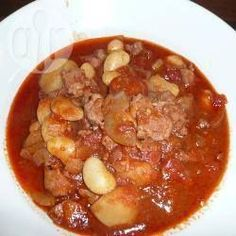 Authentic Sam's Portuguese-style pork and chorizo stew, ,