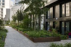 Open Spaces in Residential Development in Boulogne Billancourt by Mutabilis « Landscape Architecture Works | Landezine