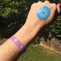 Sunscreen ✔️ UV Wristband ✔️  UV Sticker ✔️  Hat ✔️  Sunglasses ✔️   ... Let the #weekendgetaway begin! Beach Bag Essentials, Fitbit Alta, Sunscreen, Sticker, Hat, Sunglasses, Chip Hat, Stickers, Sunnies