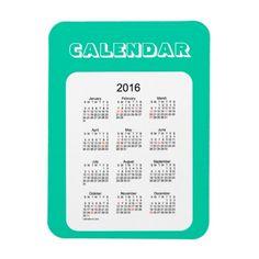 2016 Aqua Marine Calendar by Janz 3x4 Magnet