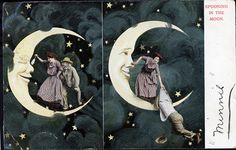 Spooning in the Moon - Comic Postcard by Photo_History, via Flickr