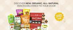 Love with Food.  Snack Smart. Do Good. Discover new, organic, all-natural snacks, delivered to your door for $10/month. Learn more…