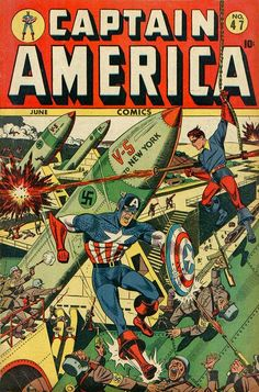 Captain America Comics # 47 by Alex Schomburg