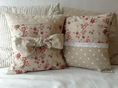 country chic | Country chic bow cushion cover