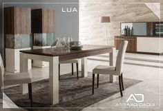 LUA Dinning room  Keen lines become alive in functional textures. Your life becomes a station of special tastes.