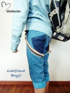 kidsfriend jeans short unisex Hosenträger
