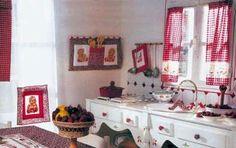 Cucito country: idee per la cucina [FOTO] - Per le appassionate di cucito e dello stile country, ecco alcune idee per arredare e decorare la cucina con originalità.