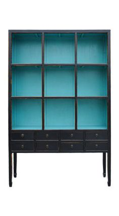 Turquoise Painted Cabinet