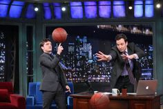 Josh Hutcherson shows off his Basketball skills on Late Night with Jimmy Fallon